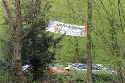Banner kündigen am Ortseingang von Detmold auf das 88. BachFest2013 Detmold.