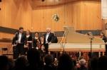Applaus für das Werk von Johann Ludwig Krebs (1713–1780) Doppelkonzert für Oboe und Cembalo h-Moll. Solist: József Kiss, Oboe (Dozent an der HfM Detmold).