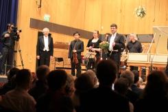 Applaus für das Werk von Johann Ludwig Krebs (1713–1780) Doppelkonzert für Oboe und Cembalo h-Moll. Solist: József Kiss, Oboe (Dozent an der HfM Detmold)