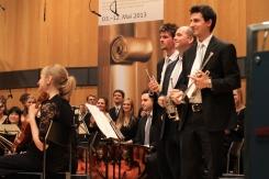 Ein großartiges Trompeten-Ensemble: Henrik Bierwirth (1. Trompete) Alper Coker (2. Trompete) Jonas Spieker (3. Trompete).