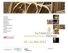 Internet-Auftritt 88. BachFest2013 Detmold Neuen Bachgesellschaft e.V. - Ausrichter: Hochschule für Musik Detmold.