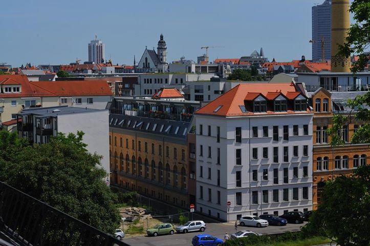 Blick aus der Thomaner-Stube (Neues Alumnat) auf Leipzig
