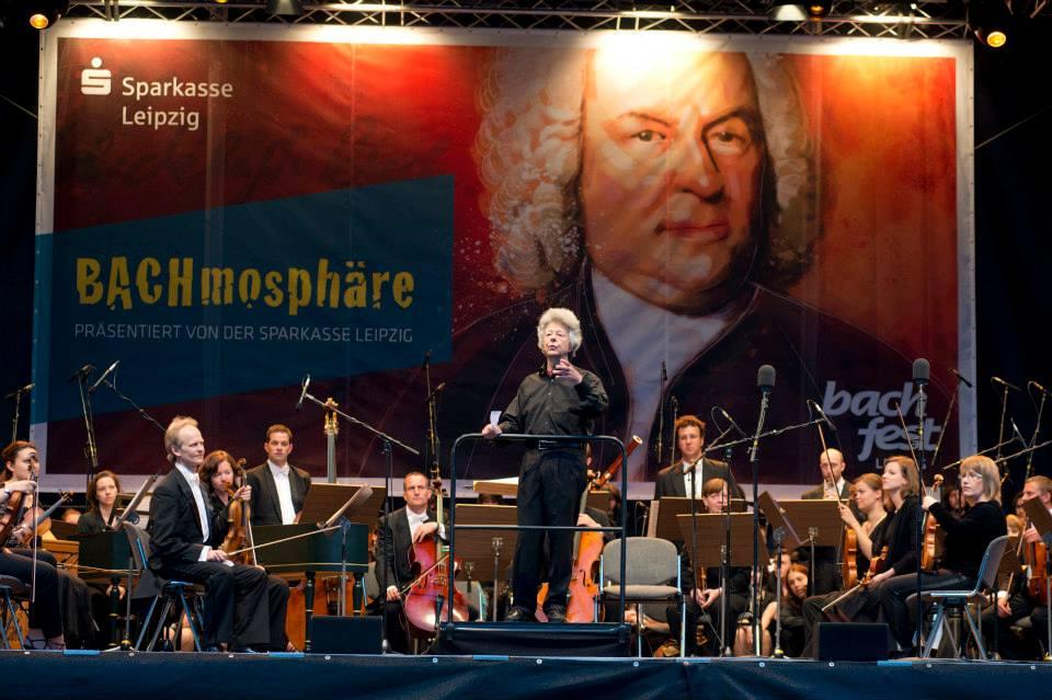 Chorakademie B@ch für uns! auf dem Leipziger Markt Foto: Gert Mothes BachArchiv