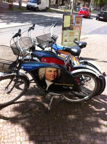 Leih-Fahrräder mit dem Logo BachFest 2013 Foto: Gert Mothes