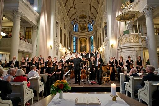 BachFest 2013 Leipzig Nikolaikirche Auferstehung und Himmelfahrt  J.E. Gardiner Monteverdi Choir EBS Foto: Gert Mothes