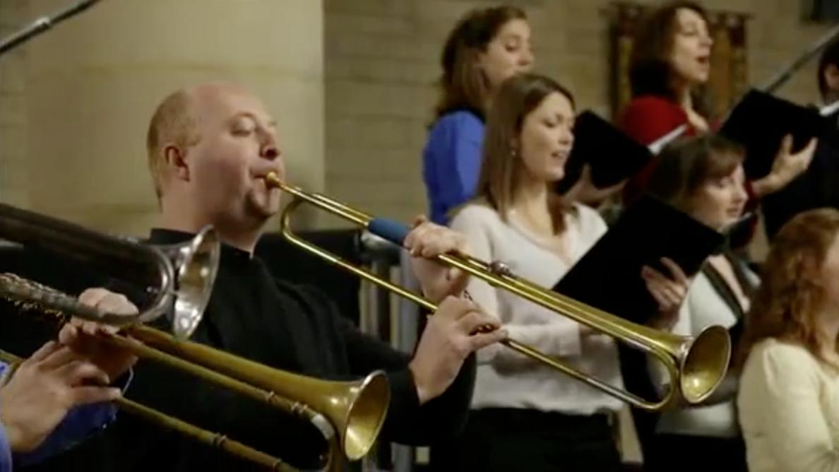 Trompeter: Neil Brough  bei der h-Moll Messe mit  J. E. Gardiner in London