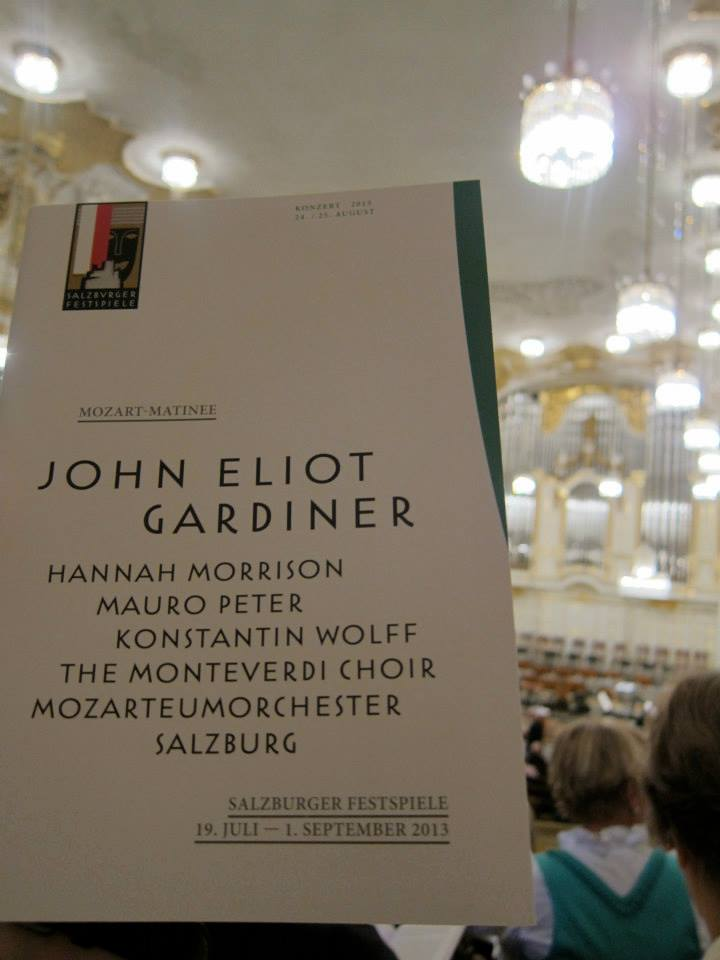 Programm-Ankündigung J.E. Gardiner Salzburger Festspiele 2013 (Foto: Leen Roetmann)