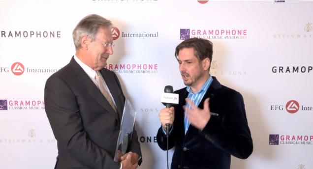 Sir John Eliot Gardiner at The Gramophone Awards 2013