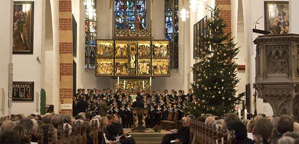 Weihnachten mit dem Thomanerchor in der Thomaskirche in Leipzig.