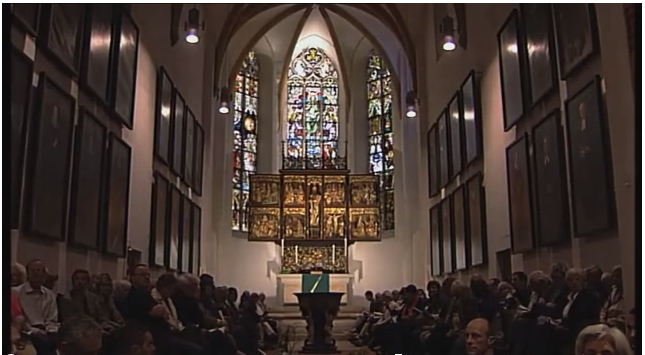 Altarraum in der Bach-Kirche St. Thomas in Leipzig