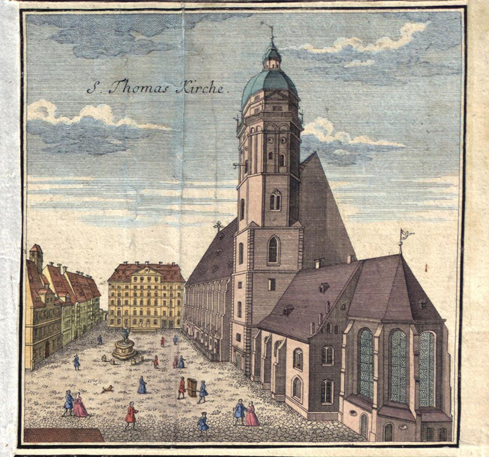 Historisches Bild von der Thomaskirche in Leipzig!