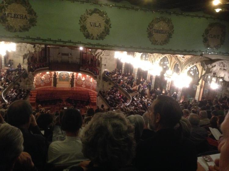 """Palau de la Música Catalana"" in  Barcelona - Monteverdi Choir Conductor J .E. Gardiner am 7. 3. 2014"