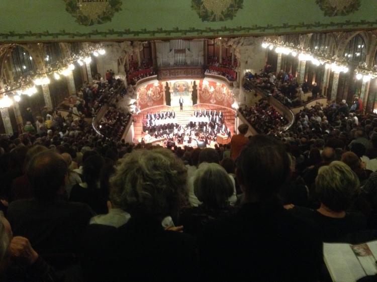 """Palau de la Música Catalana"" in Barcelona - Monteverdi Choir Conductor J.E. Gardiner am 7. 3. 2014"