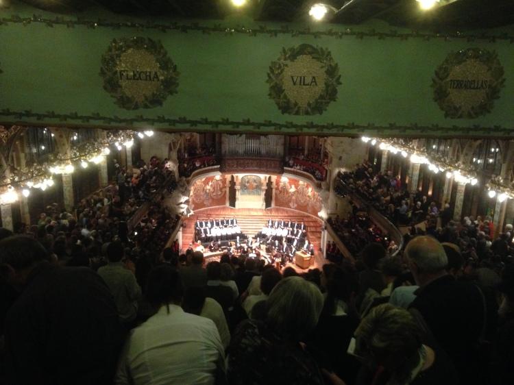 "Konzert im ""Palau de la Música Catalana Barcelona"" - Monteverdi Choir & Conductor:  J. E. Gardiner am 7. 3. 2014. Claudio Monteverdi (1557-1643) ""Vespers della Beata Vergine"" (1610)."