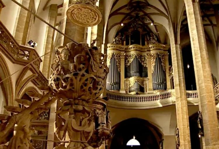 Dom St. Marien Freiberg (Sachsen) mit der Silbermann-Orgel