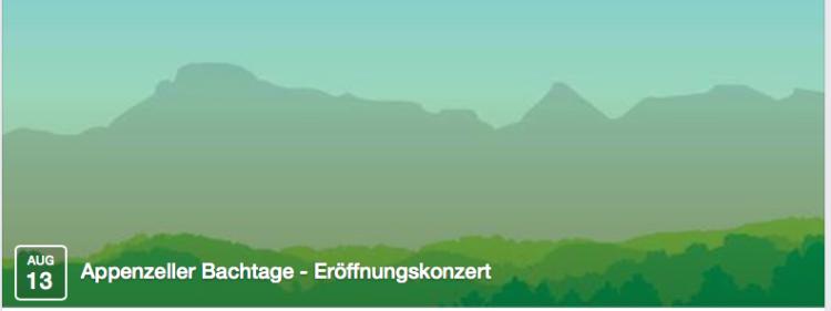 Appenzeller Bachtage 2014 JS Bach-Stiftung St. Gallen desde 13,8.  hasta 17.08.2014