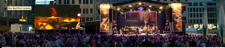 "Bachfest Leipzig 2014 - ""BACHmosphäre"" auf dem Rathausplatz"