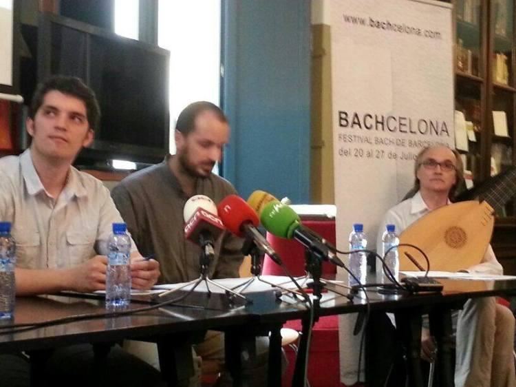 Pressekonferenz BACHcelona 2014 Mit Andreas Martin (Laute)