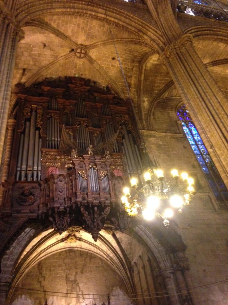Orgel der Catedral Barcelona