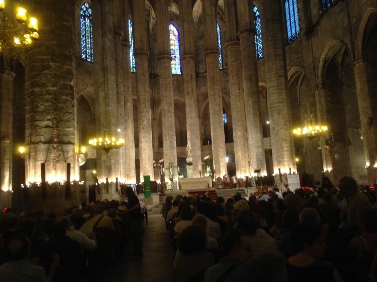 2014-07-26 BACHCELONA - Basilika de Santa Maria del Mar Schütz-Motette und Bach-Kantate BWV 9