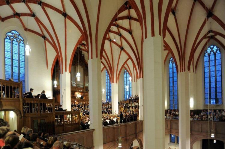 Thomaskirche Leipzig Eröffnung Bachfest 2014. Foto: Bach-Archiv / Gert Mothes