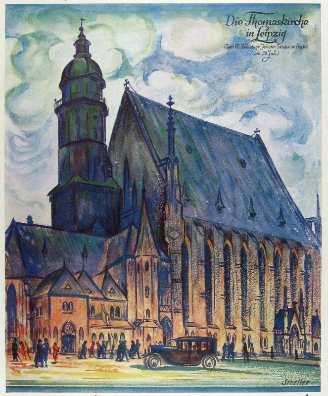Die Thomaskirche in  Leipzig