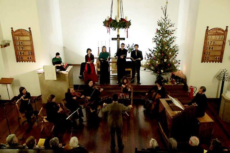 """Església Evangèlica de parla Alemanya - Carrer Brusi 94 in  Barcelona. Weihnachts-Konzert von BMZ """"BACH ZUM MITSINGEN"""""""