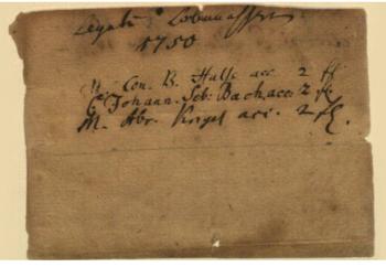 Verschollen geglaubte J. S. Bach-Quittung aus dem Jahr 1750 vom Bach Archiv erworben.