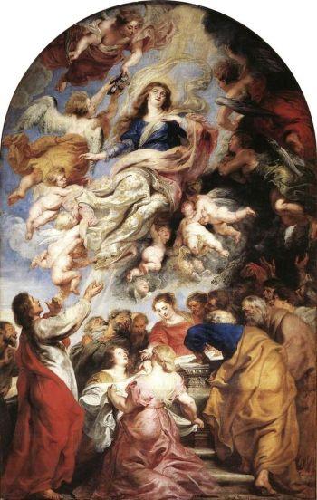 Barocke Hochaltar von Rubens: Mariä Himmelfahrt Liebfrauenkathedrale, Antwerpen, 1626