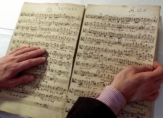 Geistliche Musik Notenpartitur