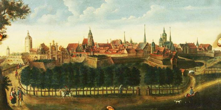 Leipzig von Osten 1765 von Christian Friedrich Heinrich Schildbach