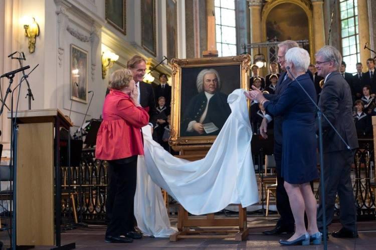 Das Originalgemälde  J. S. Bach ist zurück in Leipzig ! Enthüllung am 13.6.2015 zum Bachfest 2015 in der Nikolaokirche.