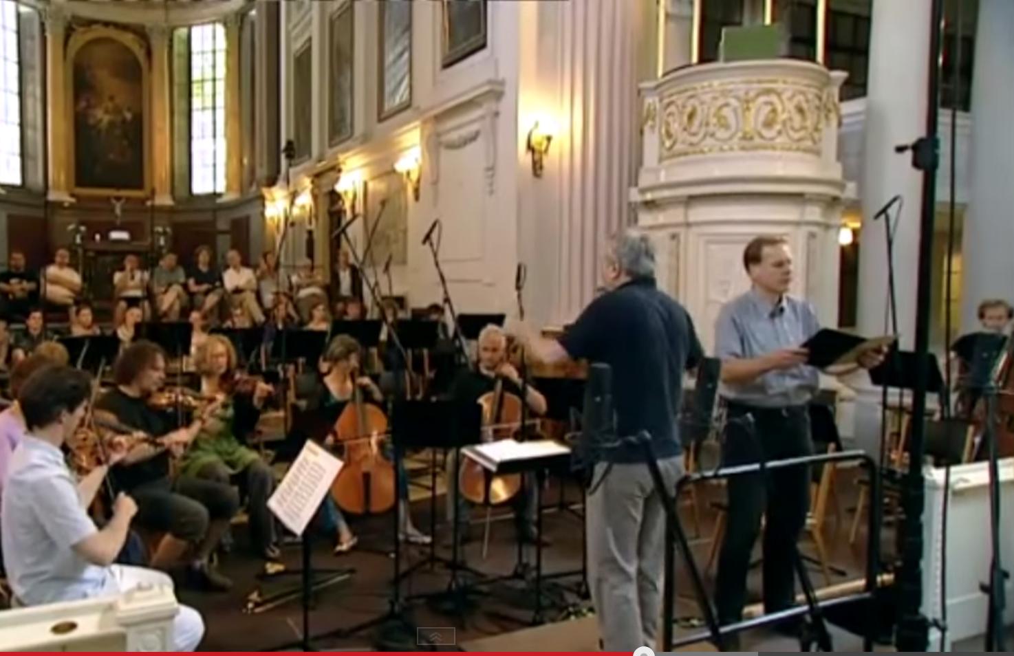 Frieder Bernius mit der Stuttgarter Hofkapelle in der Nikolaikirche zum Bachfest 2013 Leipzig