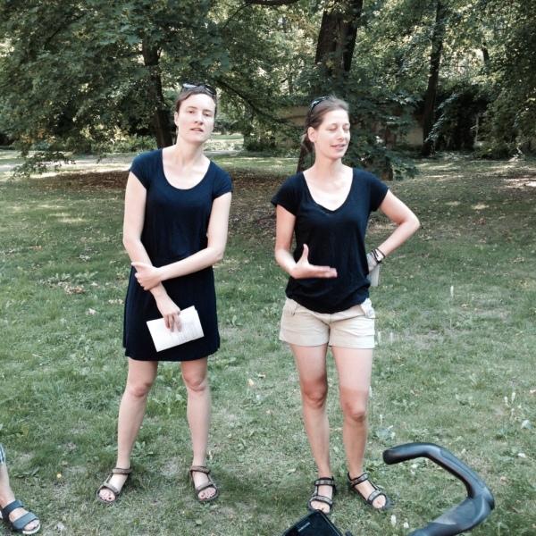 Die Musikerinnen Mareike Neumann (li.) und Anna-Luise Oppelt