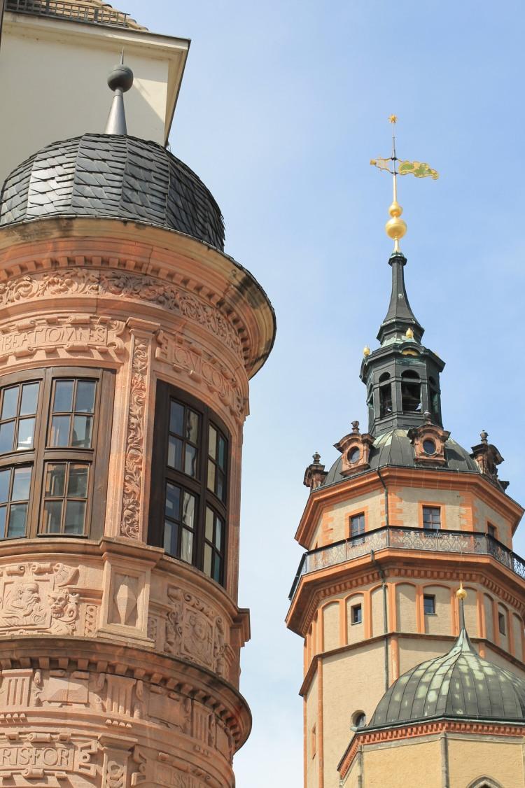 Turm der Nikolaikirche in Leipzig
