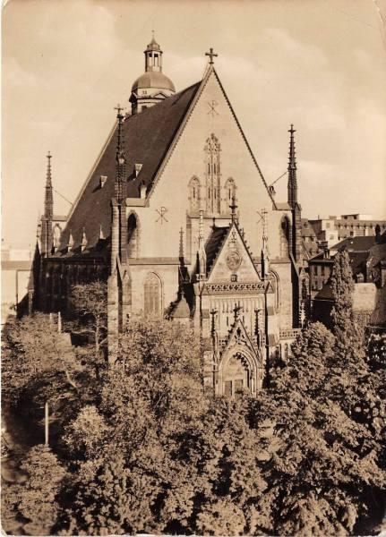 Historische Aufnahme Thomaskirche Leipzig