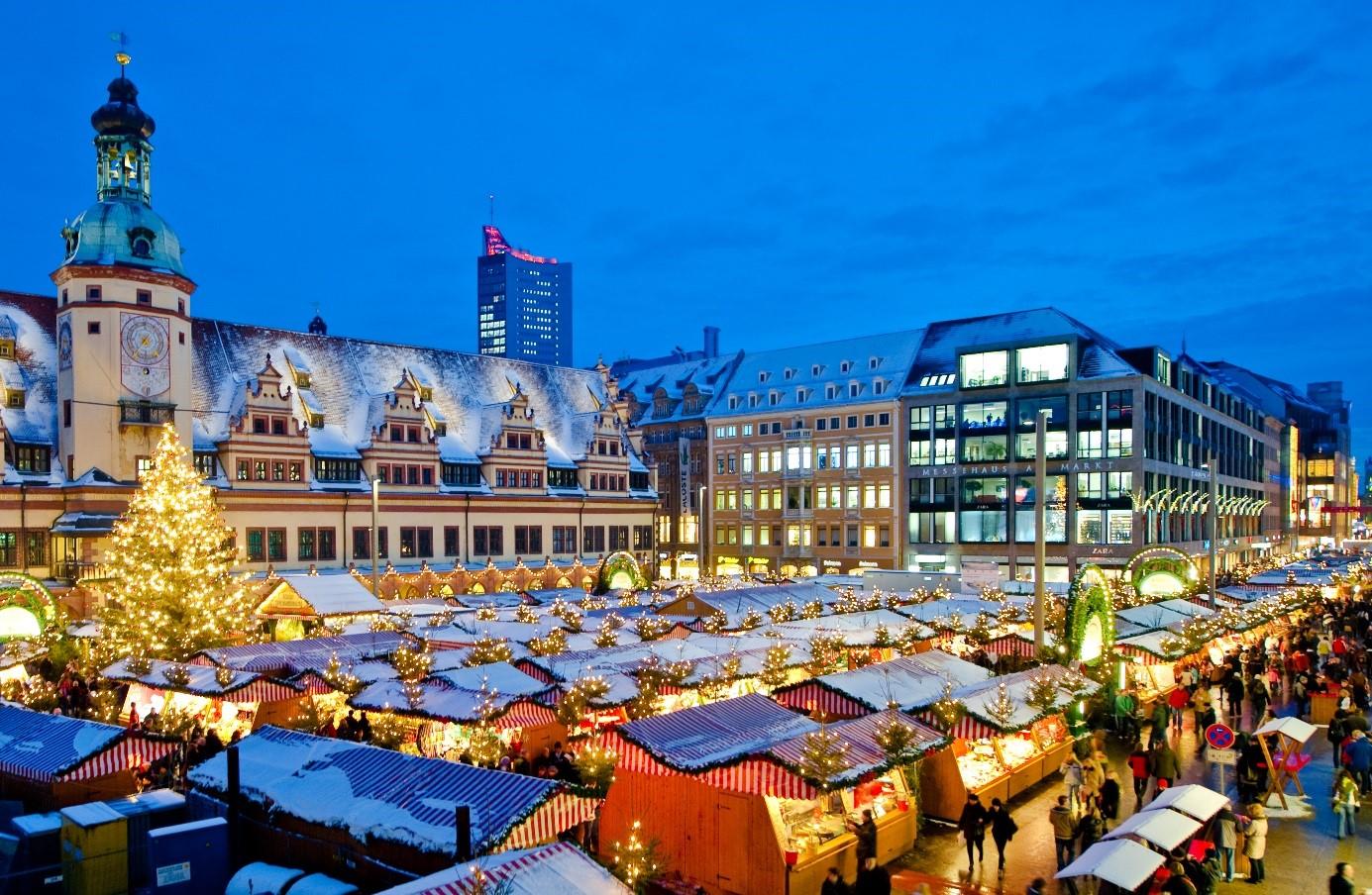 Weihnachtsmarkt in Leipzig.  Copyright: Dirk Brzoska