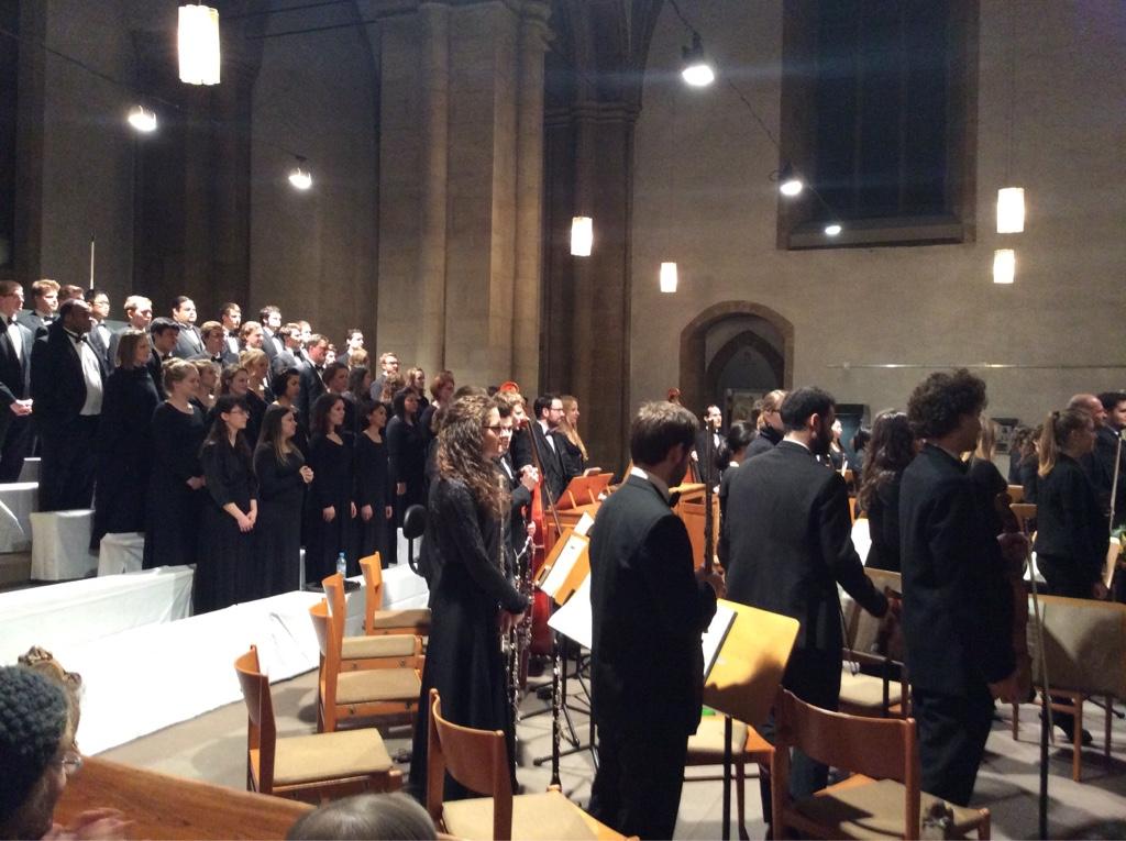 Teilnehmer der University of Minnesota und der Hochschule für Musik Detmold.