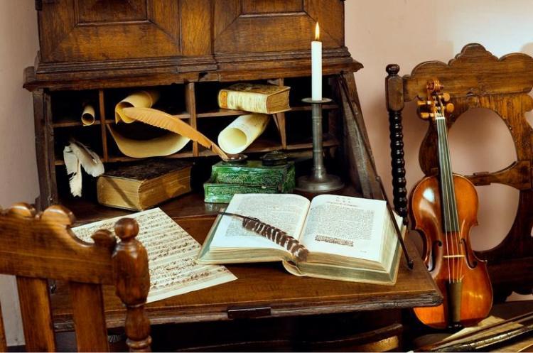 J.S. Bach Komponier-Studio im Bach-Haus-Museum in Eisenach (Thüringen)