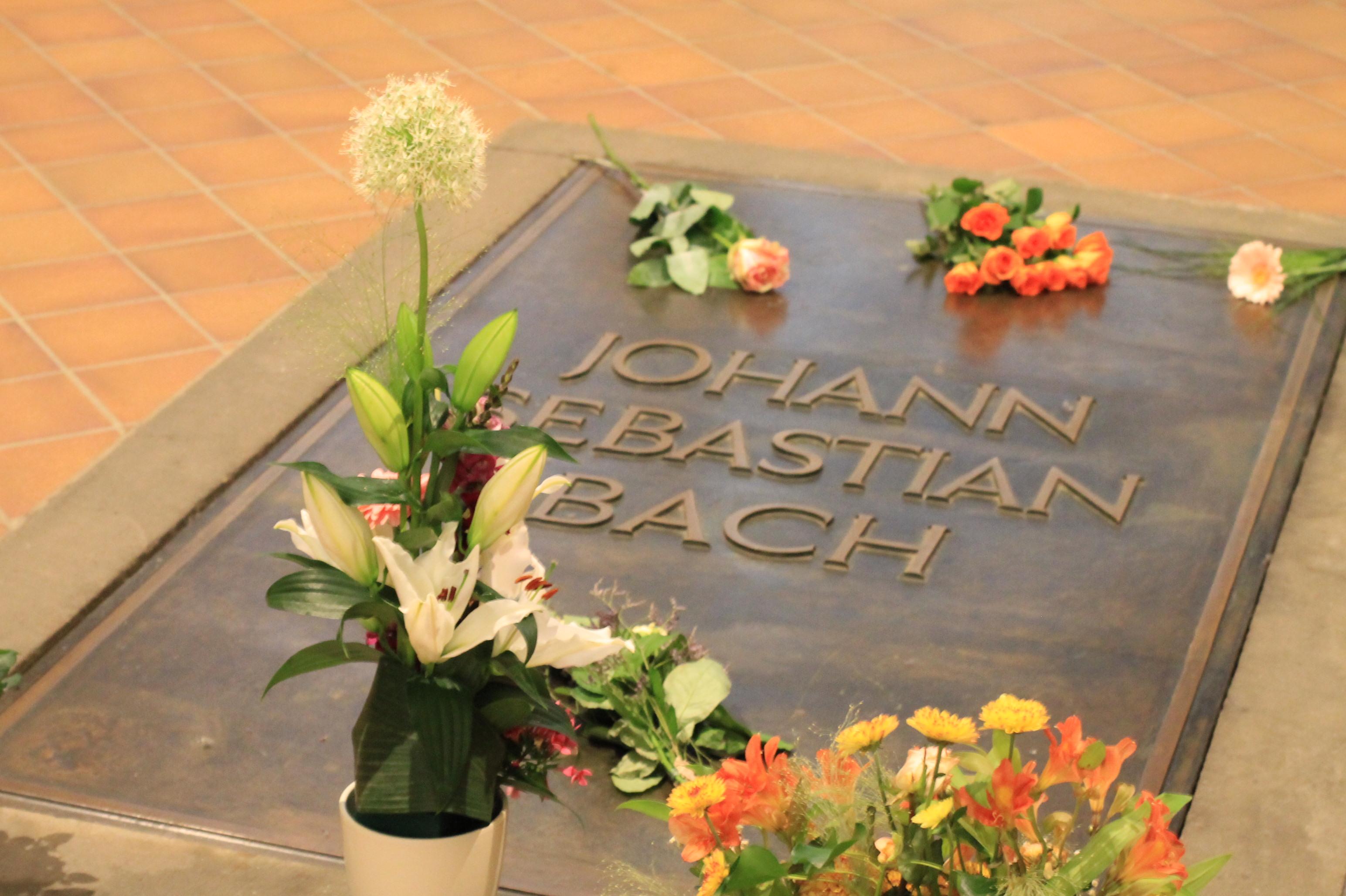 Grabstätte von Johann Sebastian Bach in der Thomaskirche Leipzig