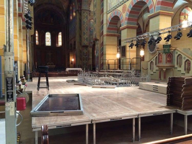 Vorarbeiten für das Konzert am 15.06.16 mit Sir John Eliot Gardiner im Kaiserdom Königslutter