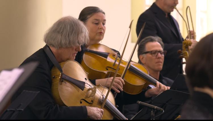 """Sigiswald Kuijken bei ALL OF BACH als Mitwirkender mit der Barockvioline im BWV 22 """"Jesus nahm zu sich die Zwölfe"""""""