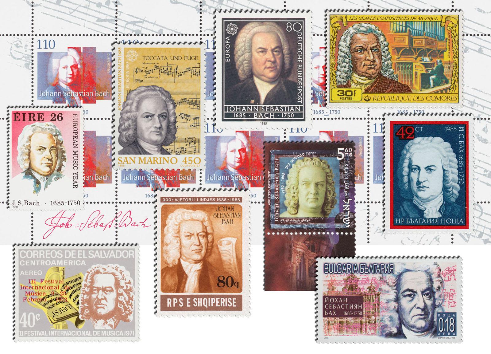 Internationale J. S. Bach-Briefmarken