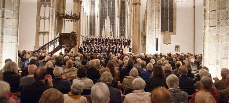 Der Dresdner Kreuzchor gab ein Konzert in der Marienkirche Herford
