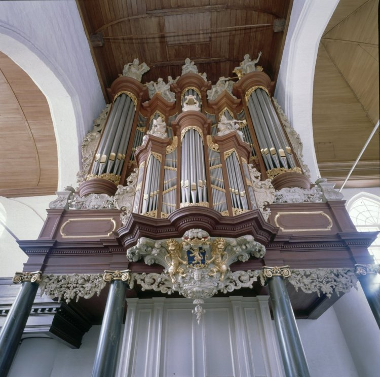 Grote of Jacobijnerkerk, Christian Müller-Orgel von 1724-1727 in Leeuwarden (Holland)