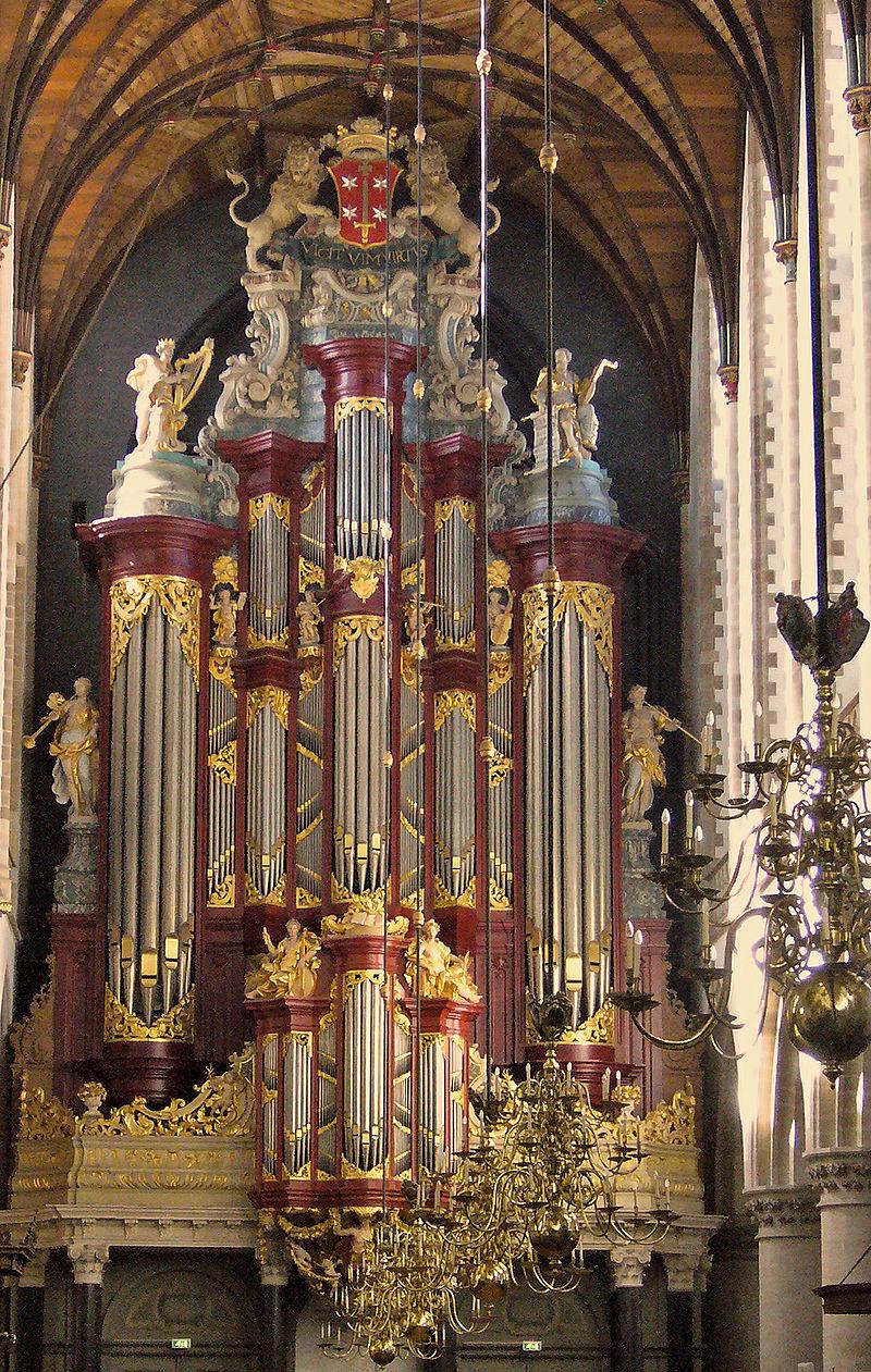 The Müller-Orgel in The Grote Kerk or St.-Bavokerk in Haarlem.