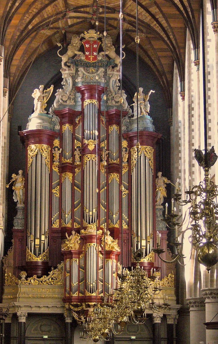 The Müller-Orgel in The Grote Kerk or St.-Bavokerk in Haarlem.