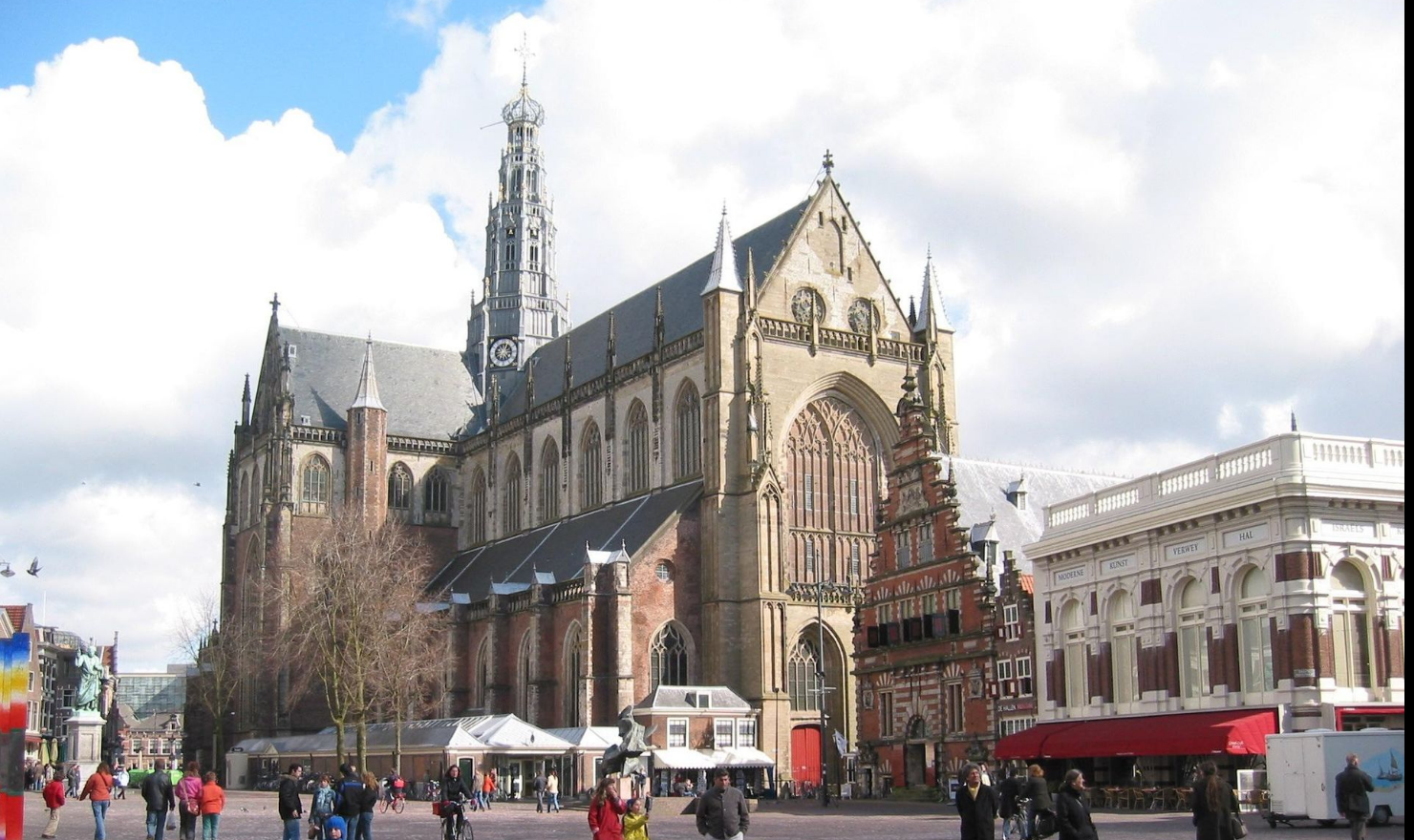 The Grote Kerk or St.-Bavokerk in Haarlem