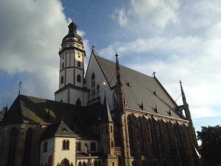 Aufnahme der Thomaskirche zu Leipzig am 19.6.2016 zum Bachfest Leipzig.