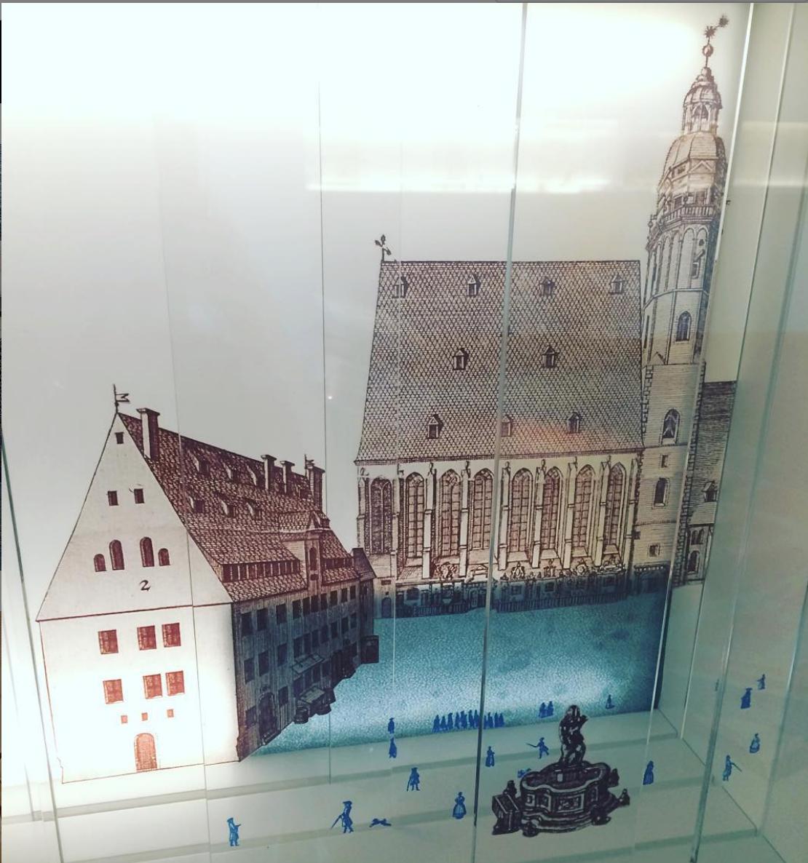 Modell: Thomasschule und Thomaskirche Leipzig